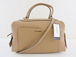 Nine West NWT Dark Wheat Tan Satchel Crossbody Hand Bag Top Zip Faux Leather - $58.08