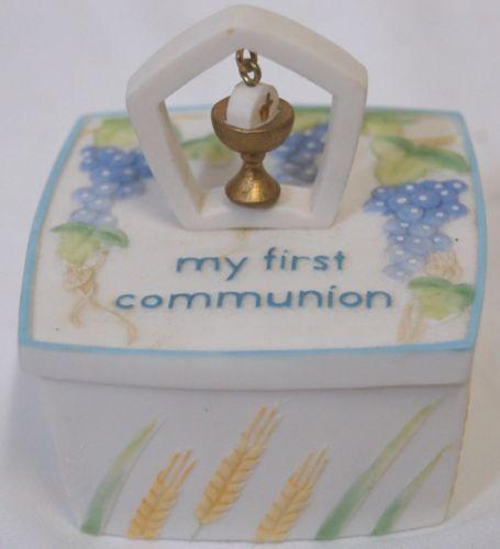 Roman Inc 41374 First Communion Rosary Trinket Box Chalice Wafer Decoration