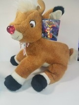 1999 Soft Plush Rudolph Red Nosed Reindeer Pre-owned with Tags *READ* - $9.85