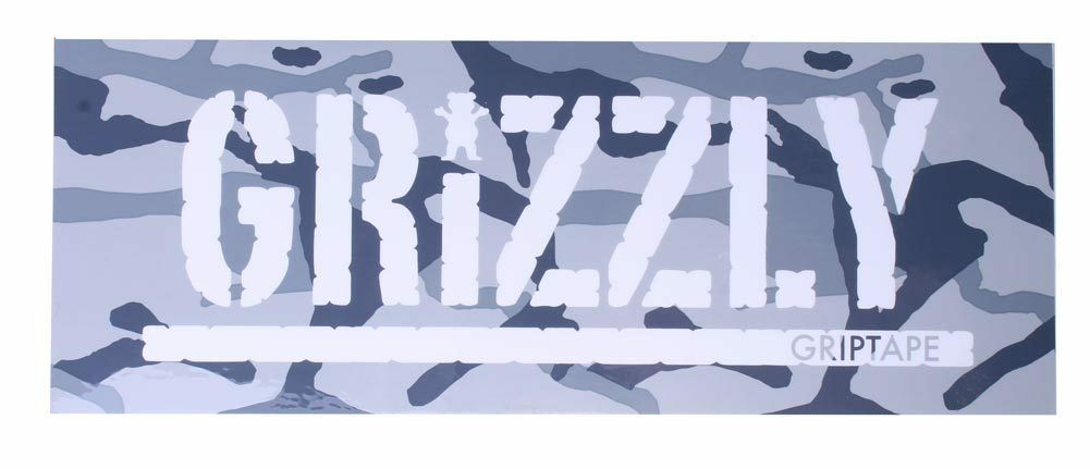 "Grizzly Griptape Gray Branch Camo 8"" Sticker Skateboard Decal NEW"
