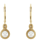 14K White or Yellow Gold Cultured Pearl Beaded Earrings - $239.99