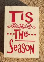 Primitive Wood 74749T Christmas Box Sign - $4.50
