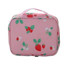 [Strawberry] Creative Portable Cosmetic Bag Toiletry Bag Makeup Case - £10.23 GBP