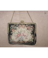 Antique 1920's PETIT-POINT Tapestry Evening Purse - $64.35
