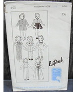 """Butterick 453 16"""" Doll Clothes Pattern Coat Dress Skating Outfit Overall... - $18.00"""