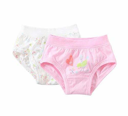 PANDA SUPERSTORE 2 Pieces Breathable Soft Babies Underwear Panties, Off White +