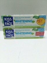 Lot Of 2 Kiss My Face Whitening Fluoride Free Toothpaste Cool Mint Gel 4... - $39.59