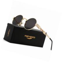 Round Steampunk Sunglasses  Glasses Metal Frame 100% UV Blocking Lens - $28.61+