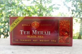 Lot 75 Pcs @2g Tea Bags Teh Merah Indonesia Bla... - $19.90
