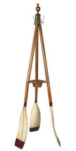 "Nautical Oxford Varsity Oar Coat Hat Stand 74"" Wooden Maritime Decor New - $249.63"