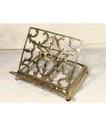 Brass Book Stand Holder Vintage Rack Easel Adjustabl Fold Bible Cookbook... - $108.90