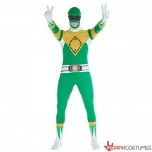 Morphsuit Green Power Rangers Body Suit Skin Halloween Adult Costume 78-... - $59.54