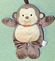 Carters MUSICAL MONKEY Child of Mine Plush Baby Crib Toy Plush Brown + Orange Bo - $14.03