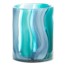 Small Blue Cylinder Glass Vase - $40.42