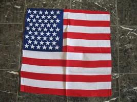 "Wholesale Lot 6 22""x22"" USA American Patriotic Bandana - $14.88"