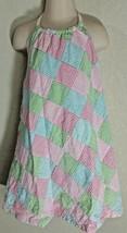 Gymboree Tennis Match Patchwork Stripe Halter Dress Seersucker Sz 5 Cotton Lined - $8.99