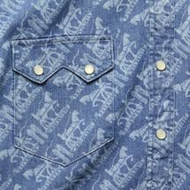 Levi's Men's Classic Casual Denim Printed Sawtooth Western Shirt image 3