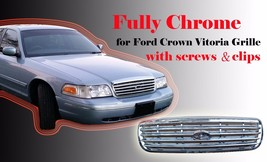 Ford Crown Victoria Grille 1998-2011 Chrome 6W7Z-8200AA FO1200346 - $33.25