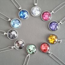 2017 New Arrival Glowing Jewelry Full Moon Necklace Handmade Glass Dome ... - $3.99