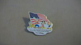 Mickey Mouse, Donald Duck, Pluto, Goofy Walt Disney I Thank America Pin 2002 - $14.84