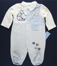 NWT First Impressions Boy's Velour Dog Puppy Sleeper with Feet, 0-3M or ... - $7.99