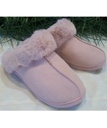 LC Lauren Conrad Clogs Slippers Kohl's Poly Faux Fur Womens Large L 9-10 Pink - $12.00