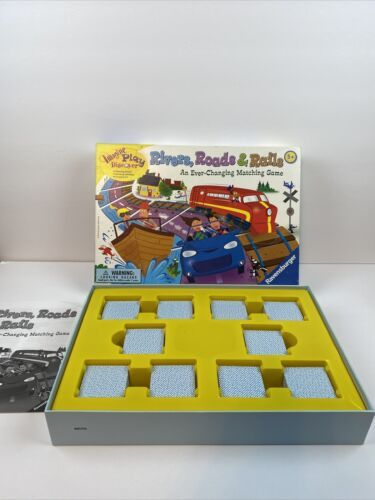 Primary image for Rivers Roads & Rails Board Game Ever Changing Matching 1-8 Player 5+