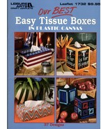 Our Best Easy Tissue Boxers in Plastic 37 Designs Leaflet 1732 Flower G... - $9.95