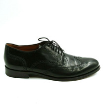 Cole Haan Mens Wing Tip Lace Up Dress Shoes Black Leather Cushioned Sz 14 D - $57.51
