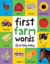 First 100 Farm Words Board Book for Toddler Children Baby Learning Presc... - $7.74
