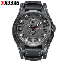 Curren 2018 Men Watch Top Brand Luxury Leather Strap Waterproof Sport Men Quartz - $32.30