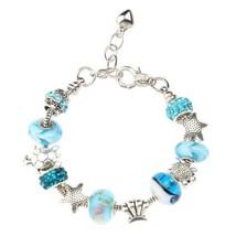 Fashion Jewelry Ocean Style Sea Turtles Charm Bracelet Silver Plated Bra... - $3.17
