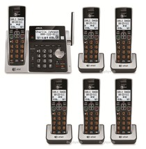 AT&T CL83213 6 Big Button Cordless Phones Answering Machine & Talking Caller ID - $188.75