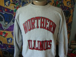 Vintage Northern Illinois Huskies Champion Reverse Weave NCAA Sweatshirt... - $89.09