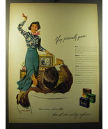 1949 Kotex Sanitary Napkins Ad - art by Tom Hall - Very personally yours - $14.99