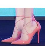 89h198 gladiator ankle pump, sharp head, stiletto, Size 3-9, pink - $68.80