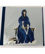 Cross Stitch Needlepoint Photo Album Scrap Book Lady in Blue Dress Handmade - $39.59