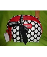 Kenneth Cole RED WHITE BLACK OVAL 2 PC REACTION NEW Travel HANDBAG Makeu... - $20.29