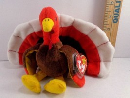 Ty Beanie Baby Gobbles Thanksgiving Turkey Plush Fall Stuffed Animal NEW -  £5.38 GBP 11f01a14e41d