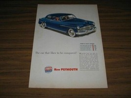 1949 Print Ad The New '49 Plymouth Special Deluxe 2-Door Car - $13.48