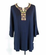 NWT CHARTER CLUB Plus Size 2X New Embellished Knit Tunic Top - $27.99