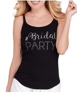 Betsey Johnson Bride and Bridal Party Tank Tops, Black, Size M - $13.09