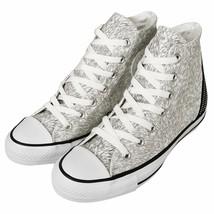 Converse Women's Chuck Taylor All Star Tri Zip White/Silver Reflective S... - $39.99