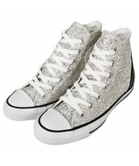 Converse Women's Chuck Taylor All Star Tri Zip White/Silver Reflective S... - $50.13