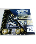 NIB BRAND NEW Roller Derby BLACK GOLD Polka Dot Skates girls ADJUSTABLE ... - $34.64