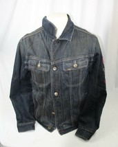 Vintage Authentic Lee Outerwear Dark Blue Denim Jean Jacket Levi - Men's... - $42.07