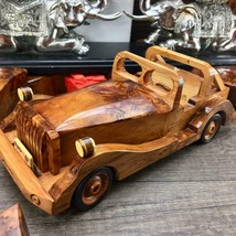 Memory Small hand carved thuya burl wooden classic car miniature collect... - $94.05