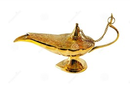 Decorative Brass Aladdin Oil LampIncense Burner Home Decor Handicraft gi... - $13.00