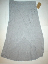 New NWT Womens Threads 4 Thought Organic Long Skirt Maxi Gray High Low S... - $67.50