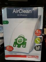 Genuine Miele Type U Vacuum Cleaner Bag AirClean 3D Efficiency Upright Bags - $19.00